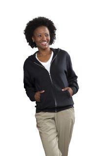 Unisex Full-Zip Hooded Fleece Sweatshirt