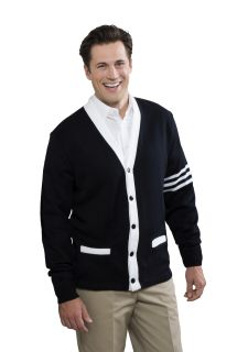 Unisex 5-Button Varsity Cardigan with Welt Pockets