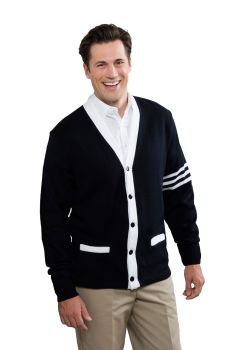 Unisex 5-Button Varsity Cardigan with Welt Pockets-A Plus