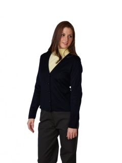 Womens Fine-Gauge 5-Button V-Neck Cardigan-A Plus