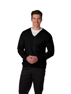 Men's Fine-Gauge T-Body V-Neck Sweater