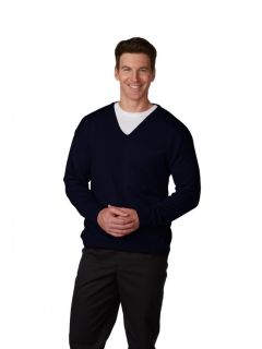 Mens Fine-Gauge T-Body V-Neck Sweater-A Plus