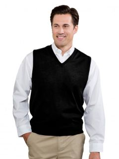 Mens Fine-Gauge V-Neck Sweater Vest