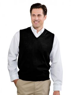 Men's Fine-Gauge V-Neck Sweater Vest
