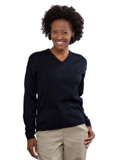 Women's Fine-Gauge V-Neck Pullover Sweater