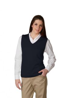 Womens Fine-Gauge V-Neck Sweater Vest