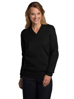 Unisex V-Neck Pullover Jersey Knit Sweater-A Plus