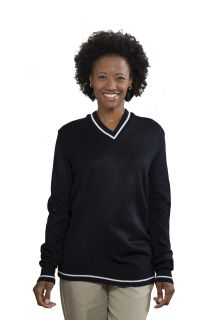 Unisex V-Neck Varsity Pullover Sweater-A Plus