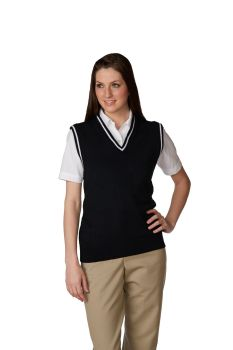 Unisex V-Neck Varsity Pullover Sweater Vest-A Plus
