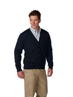 Unisex Jersey Knit V-Neck Cardigan