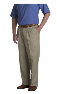 Men's Double-Pleated Classic Fit Twill Pants
