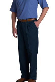 Mens Double-Pleated Classic Fit Twill Pants-A Plus