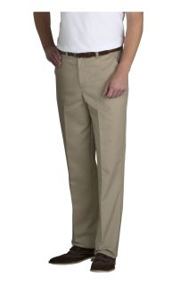 Mens Plain Front Relaxed Fit Twill Pants