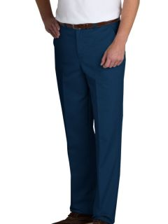 Mens Plain Front Relaxed Fit Twill Pants-