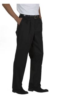Mens Double-Pleated Relaxed Fit Twill Pants-A Plus