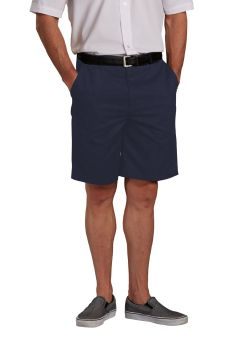 Mens Plain Front Relaxed Fit Twill Shorts-A Plus