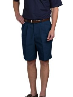 Mens Double-Pleated Relaxed Fit Twill Shorts-A Plus
