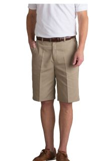 Mens Plain Front Relaxed Fit Twill Long Shorts-A Plus
