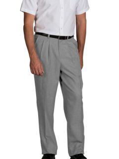 Mens Pleated Relaxed Fit Dress Flannel Pants