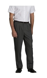 Men's Pleated Relaxed Fit Dress Flannel Pants
