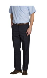 Mens Comfort Plus Plain Front Pants-A Plus