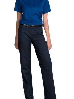Junior's Mid-Rise Plain Front Brushed Twill Pants-A Plus