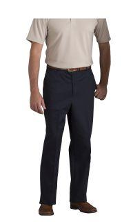 Mens Plain Front Classic Fit Twill Pants-A Plus