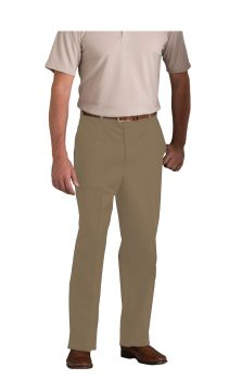 Mens Plain Front Classic Fit Twill Pants-A Plus