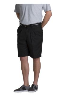 Men's Double-Pleated Classic Fit Twill Shorts