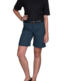 Junior's Mid-Rise Plain Front Brushed Twill Shorts-A Plus