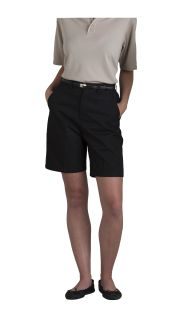 Women's Plain Front Classic Fit Twill Shorts