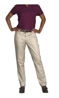 Fused, contoured waistband, Scooped pockets-A Plus