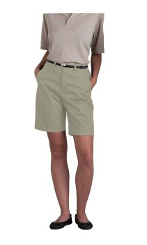 Womens Plain Front Classic Fit Twill Pants-