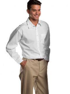 Mens Long-Sleeve Broadcloth Shirt-A Plus