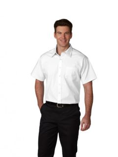 Mens Short-Sleeve Broadcloth Shirt-A Plus