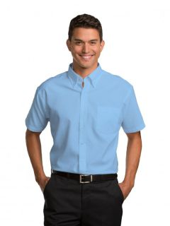Mens Short-Sleeve Oxford Shirt-A Plus
