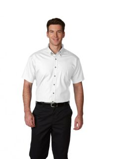 Mens Short-Sleeve Poplin Shirt-A Plus