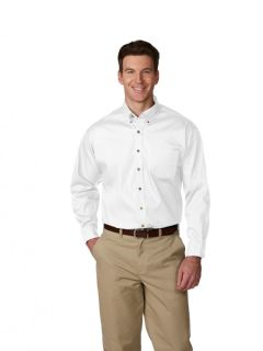 Mens Long-Sleeve Poplin Shirt-A Plus