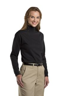 8103 Unisex Jersey Knit Mock Turtleneck