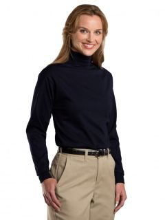 Unisex Jersey Knit Mock Turtleneck-
