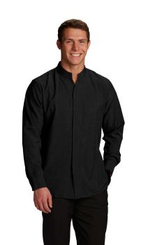 Mens Hospitality Shirt, Stand-Up Collar-