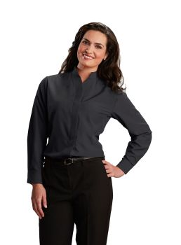 Womens Hospitality Shirt, Stand-Up Collar-A Plus