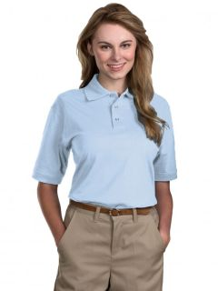 Unisex Jersey Knit Polo Shirt-