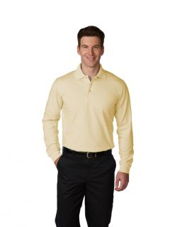 Unisex Jersey Knit Polo Shirt, Long Sleeves-