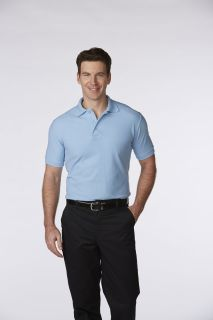 Men's/Unisex Pique Polo Shirt Short Sleeves, Ribbed Cuffs
