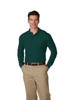 Men's/Unisex Pique Polo Shirt Long Sleeves, Ribbed Cuffs