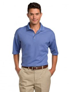 Mens Moisture-Management Polo Shirt (64% combed ring-spun cotton / 36% polyester)