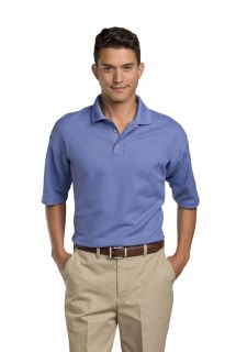 Men's Moisture-Management Polo Shirt (64% combed ring-spun cotton / 36% polyester)