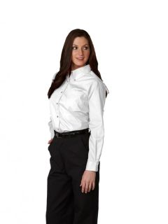 Womens Long-Sleeve Poplin Blouse-