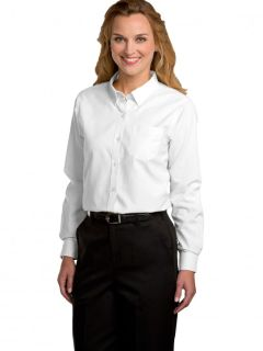 Womens Long-Sleeve Oxford Blouse